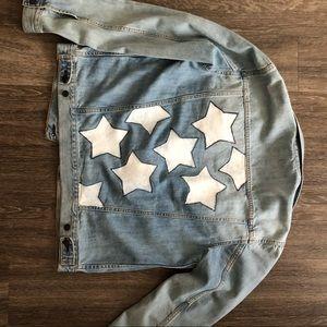 Oversized Denim Stars jean jacket